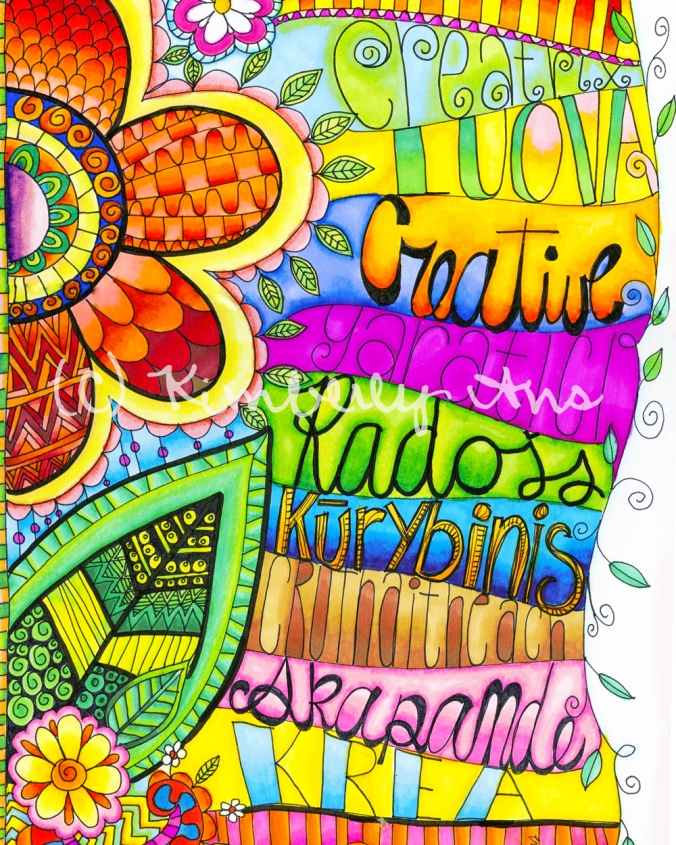 Creative Languages 8x10 Etsy